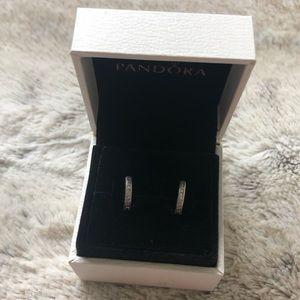 Pandora Hoops: Hearts of Pandora Small Earrings